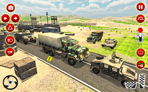 Army Truck Driver transport US Military Games 2021 screenshots 16