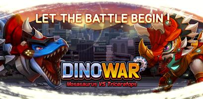 Dino War Mosa VS Triceratops