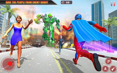 Flying Robot Superhero: Rescue City Survival Games 5