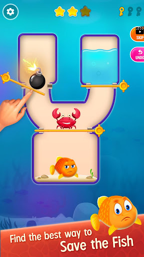 Save the Fish - Pull the Pin Game android2mod screenshots 1