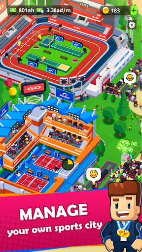 Sports City Tycoon - Idle Sports Games Simulator 1.6.0 screenshots 1