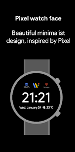 Pixel Minimal Watch Face – Watch Faces for WearOS 1