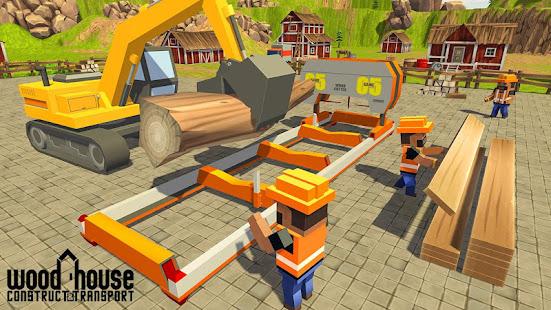 wood house construction simulator hack