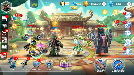 Heroes Infinity: RPG + Strategy + Super Heroes apklade screenshots 1