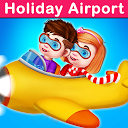 Vacation Travel To Airport : Airplane Games