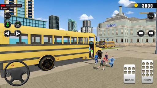 Offroad School Bus Driving: Flying Bus Games 2020 apkslow screenshots 12