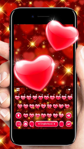 Red Heart Keyboard Theme 2.3 Screenshots 1
