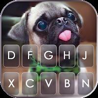 Cute Tongue Pug Keyboard Background