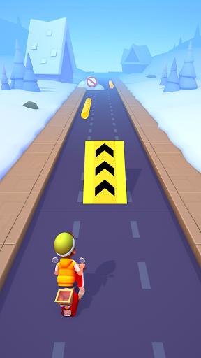 Deliveryman: running bike race 3D  screenshots 1
