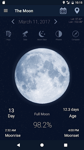 The Moon - Phases Calendar 3.1 Screenshots 1
