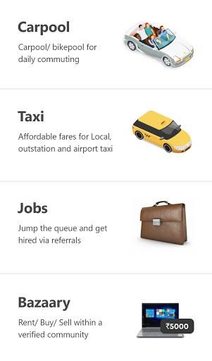 Quick Ride Carpool, Bikepool, Taxi, Bazaary & Jobs android2mod screenshots 1