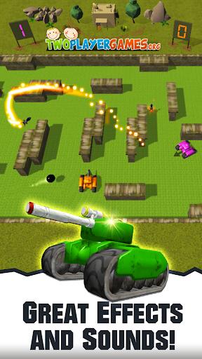 2 player tank wars screenshot 2