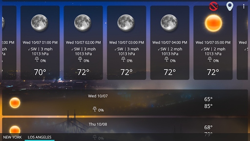 Weather forecast & transparent clock widget  Screenshots 21