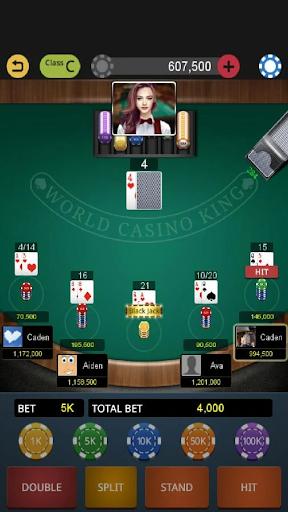 World Blackjack King modiapk screenshots 1