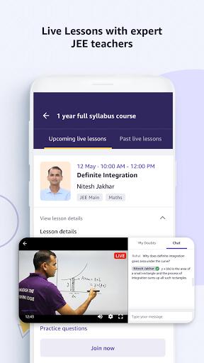Amazon Academy - IIT JEE Live Courses screen 2