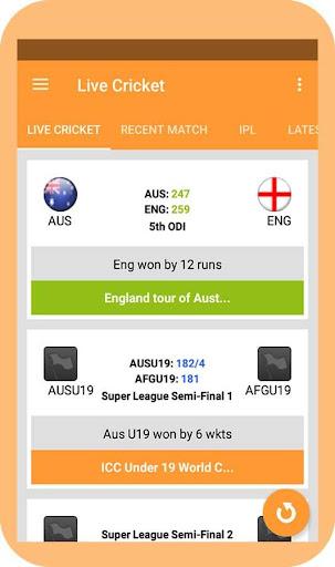 watching live cricket score screenshot 1