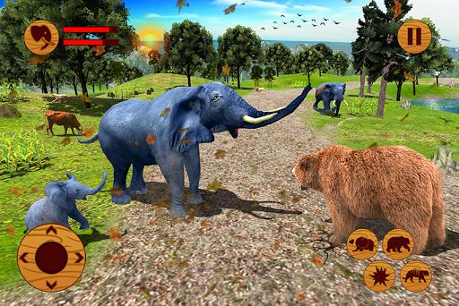 Wild Elephant Family Simulator apkpoly screenshots 3