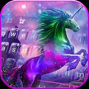 Coloring Unicorn Keyboard Theme