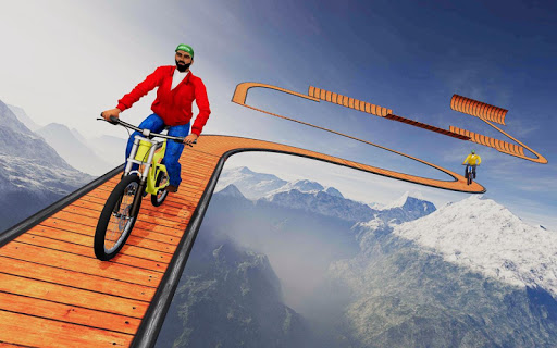 Stunt bike Impossible Tracks 3D: New Bicycle Games 30 screenshots 3