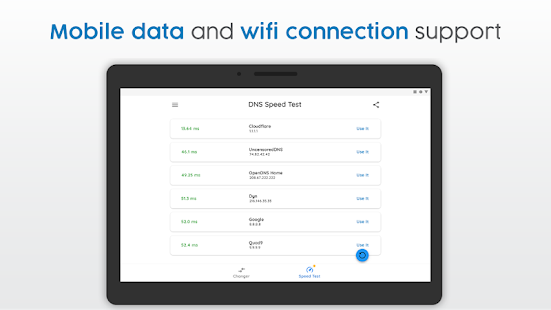 DNS Changer | Mobile Data & WiFi | IPv4 & IPv6 Screenshot