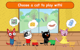 Kid-E-Cats Shopping Games for Kids! Three Kittens!
