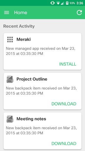 Meraki Systems Manager android2mod screenshots 1