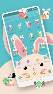 Blue Cute Cartoon Bunny Theme