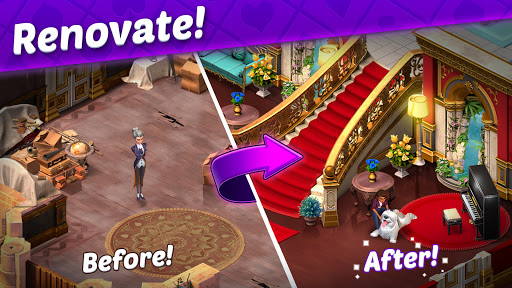 Solitaire Story - Ava's Manor: Tripeaks Card Game  screenshots 2