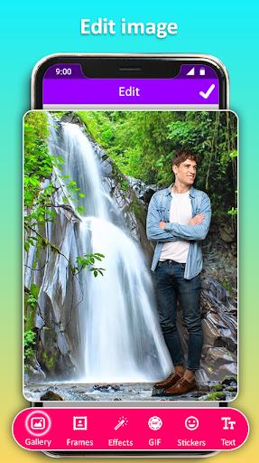 Photo Editor Frames: Water fall Background screenshot 7