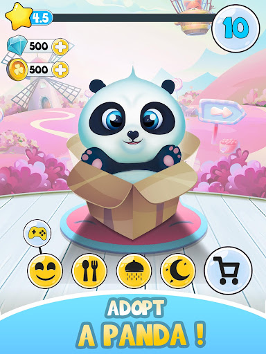 Pu - Cute giant panda bear, virtual pet care game 3.1 screenshots 7