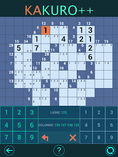 Kakuro Plus. Cross-Sums. For beginners to experts.