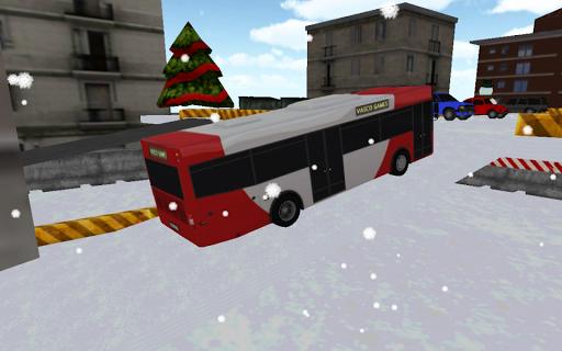 bus winter parking - 3d game screenshot 2