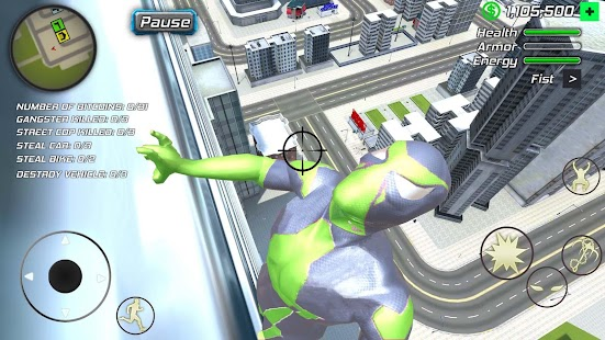 Rope Frog Ninja Hero - Strange Gangstar Vegas Screenshot