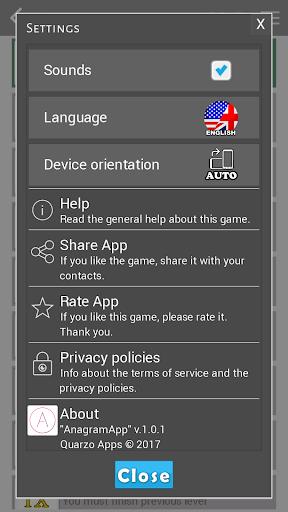 AnagramApp. Word anagrams 1.0.7 screenshots 14
