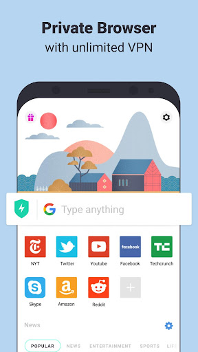 Aloha Browser Turbo - private browser + free VPN screen 0