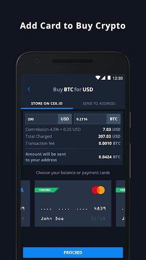 CEX.IO Cryptocurrency Exchange - Buy Bitcoin (BTC)  Screenshots 2