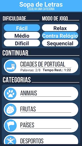 Sopa de Letras em Portuguu00eas (ud83cuddf5ud83cuddf9) screenshots 1