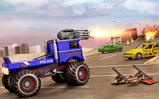 US Police Monster Truck Robot 4.0 Screenshots 13