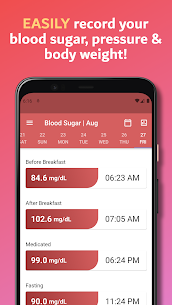 Simple Blood Diary: Sugar, Pressure & Body Weight 1