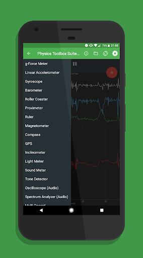 Physics Toolbox Sensor Suite Pro screen 1