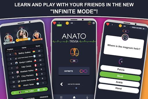 Anato Trivia -  Quiz on Human Anatomy 3.2.2 Screenshots 4