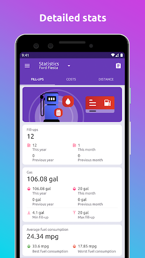 Fuelio: gas log, costs, car management, GPS routes 7.8.1 Screenshots 6