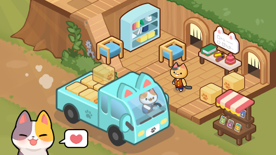 Idle Cat Tycoon : Furniture Craft Shop MOD APK 1.0.3 (Unlimited Gold) 4