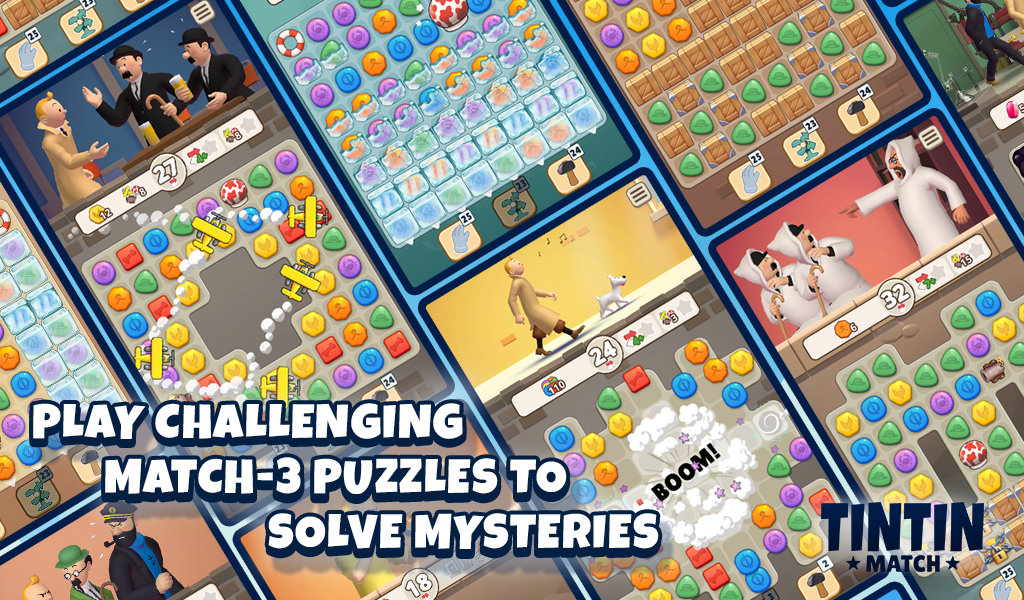 Tintin Match: Solve puzzles & mysteries together! poster 5