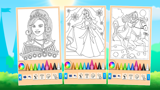 Princess Coloring Game 15.3.8 Screenshots 5