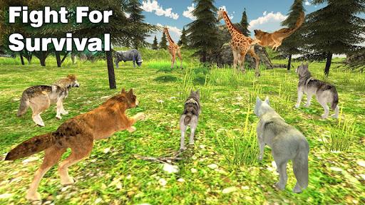 wolf family simulator : rpg wolf attack screenshot 1