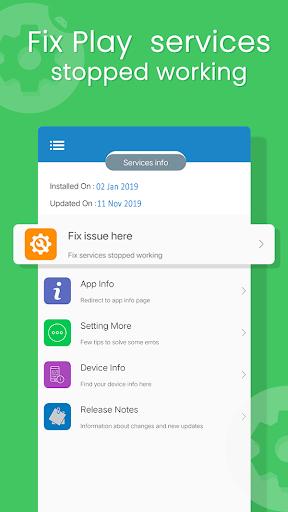 Update Play Services - Info & Fix errors(2020) 1.18 Screenshots 1