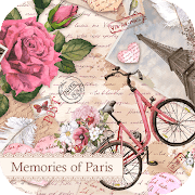 Vintage Wallpaper Memories of Paris Theme