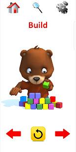 Preschool Flashcards: 3D Animated Action Words