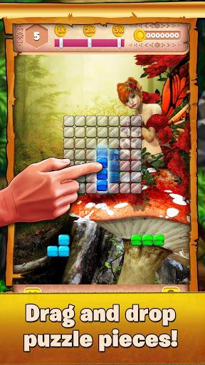 beautiful block puzzle - relaxing fairy tail game screenshot 2